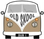 OLD SKOOL Slogan For Retro SPLIT SCREEN VW Camper Van Bus Design External Vinyl Car Sticker 90x80mm